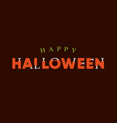 Happy-halloween-title-logo-with-bones-lettering vector