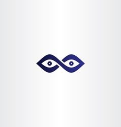 infinity eyes icon vector image