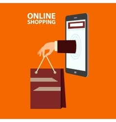 Internet shopping concept in flat style vector
