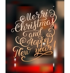 Merry Christmas and Happy New Year calligraphic vector image vector image