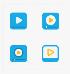 modern colorfull flat video player icons vector image vector image