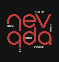 nevada state t-shirt and apparel design vector image vector image