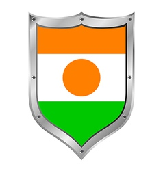 Niger flag button vector image