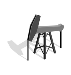 Oil pump icon isometric 3d style vector image