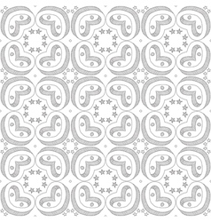 Seamless doodled pattern vector image vector image