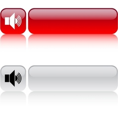 Sound volume square button vector image vector image