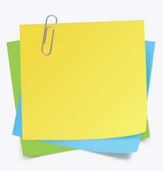Sticker notes and clip vector image vector image