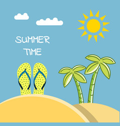 Summer time beach vector