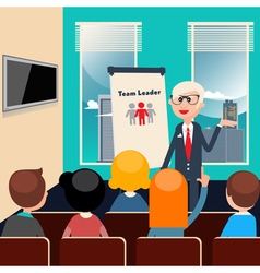 Team leader business presentation business meeting vector