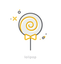 Thin line icons lolipop vector