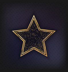 walk of fame star isolated vector image vector image
