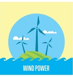 Wind power banner eco energy generation vector