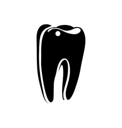 Tooth icon in simple style vector