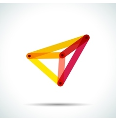 Abstract pyramid logo with intersecting vector