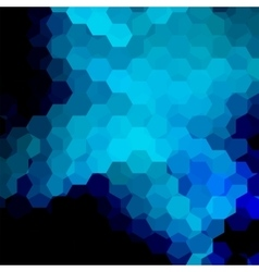Background of geometric shapes dark blue mosaic vector