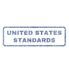 United states standards textile stamp vector