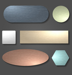 Brushed metal surface set vector