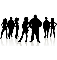 Group of young people vector