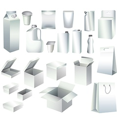 Packaging set vector