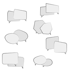 Book speech bubble symbol set vector