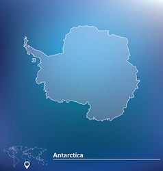 Map of antarctica vector