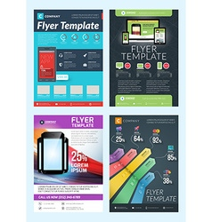 Set of Abstract Business Flyer Brochure Design vector image
