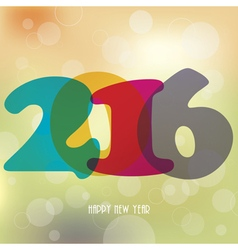 2016 happy new year background for your card vector