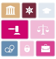 Seamless background with symbols of law and courts vector