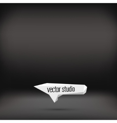 Black studio room backdrop background vector