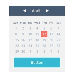 Website element calendar button vector