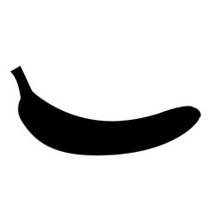 banana black color icon vector image