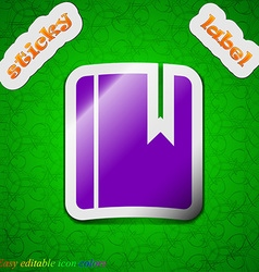 book bookmark icon sign Symbol chic colored sticky vector image