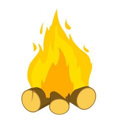 Burning bonfire icon cartoon style vector