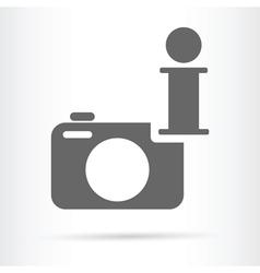 Camera wen info icon vector