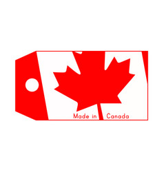 Canada flag on price tag vector