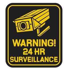 CCTV triangle symbols vector image vector image