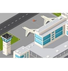 City airport vector