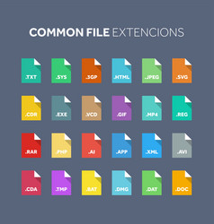 flat style icon set source code programming file vector image