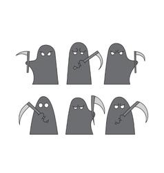Grim reaper sketch vector