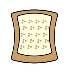 halved bread bakery breakfast design vector image
