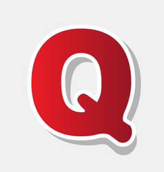 letter q sign design template element new vector image vector image