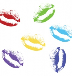 lips kiss illustration vector image