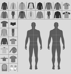 man clothing set vector image vector image