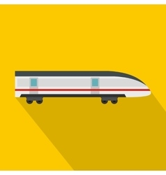 Modern high speed train icon flat style vector