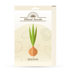 pack of onion seeds icon vector image vector image