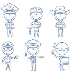 Police men vector