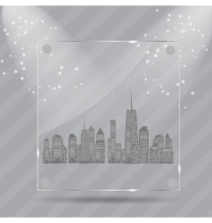 Realistic glass frames vector image