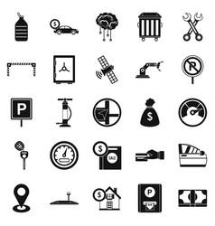 Repair equipment icons set simple style vector