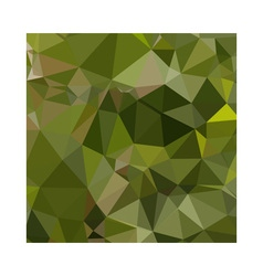 Sap green abstract low polygon background vector