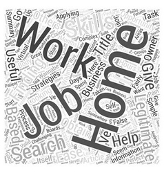 Simple strategies to ease your work from home job vector